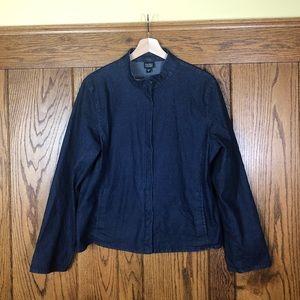 Eileen Fisher Jean Zip Up Jacket